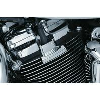 Kuryakyn 6444 Gloss Black Precision Spark Plug Covers Harley 2017-2018 (pair)