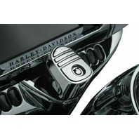 Kuryakyn Tri-Line Ignition Switch Cover Chrome #6984 Harley Davidson