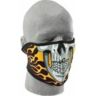 ZANheadgear Neoprene Half Mask Burning Skull - WNFM061H