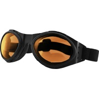 Bobster Bugeye Sunglasses - Black w/Amber Lens