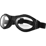 Bobster Bugeye Sunglasses - Black w/Clear Lens