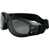 Bobster Cruiser Sunglasses - Black w/Smoke Lens