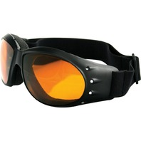 Bobster Cruiser Sunglasses - Black w/Amber Lens