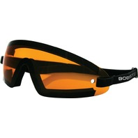 Bobster Wrap Around Goggles - Black w/Amber Lens