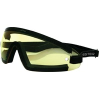 Bobster Wrap Around Goggles - Black w/Yellow Lens