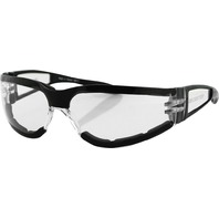 Bobster Shield II Sunglasses- Black w/Clear Lens