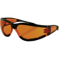 Bobster Shield II Sunglasses - Black w/Amber Lens