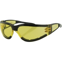 Bobster Shield II Sunglasses - Black w/Yellow Lens