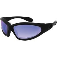 Bobster GXR Black W/Smoked Cyan Mirror Lens Sunglasses