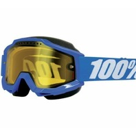 100% Accuri Adult CE-Approved Snow Goggles - Blue/Yellow