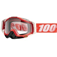 100% Racecraft CE-Aproved Off-Road Adult Goggles - Fire Red w/ Clear Lens