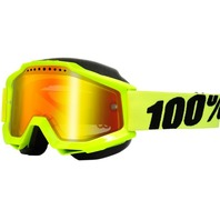 100% Accuri Off-Road/Snow Goggles - Yellow w/Mirror Red Lens