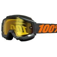 100% Accuri Off-Road/Snow Goggles - Gray w/ Yellow Lens