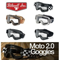 Biltwell MOTO 2.0 Motorcycle Helmet Goggles - 5 Colors to Choose From