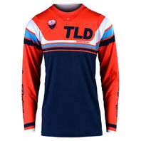 Troy Lee Designs Seca SE Orange/Dark Navy Motocross Jersey - Small or Large