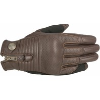 Alpinestars Oscar Mens Tobacco Brown Rayburn Leather Motorcycle Riding Gloves