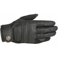 Alpinestars Oscar Mens Black Robinson Leather Motorcycle Road Riding Gloves