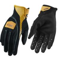 Thor Hallman Digit Vintage Style Black/Camel Motocross Gloves - Size Small-2XL