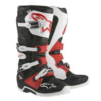 Alpinestars TECH 7 Black/White/Red Off-Road MX CE Certified Boots- Size 5-16