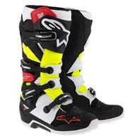 Alpinestars TECH 7 Black/Red/Yellow Off-Road MX Boots - Size 5-16