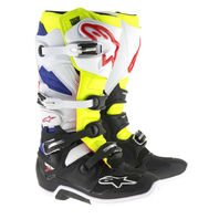 Alpinestars TECH 7 White/Yellow/Blue Off-Road MX Boots - All Sizes 5-16