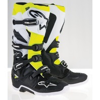 Alpinestars TECH 7 ENDURO Off-Road MX Boots - Black/White/Yellow - Mens 7-14