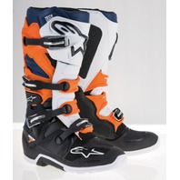 Alpinestars TECH 7 ENDURO Off-Road MX Boots - Black/Orange/Blue - Mens 7-14