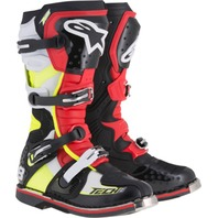 Alpinestars TECH 8 RS Off-Road CE Certified Boots - Black/Red/Yellow - Mens 5-15