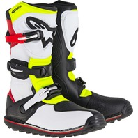 Alpinestars TECH-T All-Terrain MX Boots - White/Red/Yellow - Mens Sizes 5-13