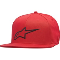 Alpinestars AGELESS Flat Bill Hat - Red/Black - Sizes S-XL