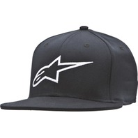 Alpinestars AGELESS Flat Bill Hat - Black/White - Sizes S-XL