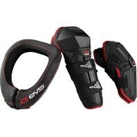 EVS Slam Combo Elbow/Knee Guard Sets & Neck Collar Kit - ATV Off-Road Moto Adult