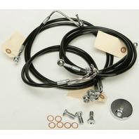 Harley 09-13 FLHT/FLHR w/ABS 4-Line Black Vinyl Brakeline Kit OEM Length