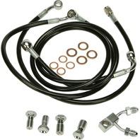 "Harley Davidson 11-13 FL/FXS w/ABS Black Vinyl Brakeline Kit +1"" Length"
