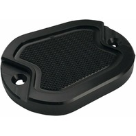 Brass Balls Cycles Black Knurled Front Master Cylinder Cover - Harley XL 04-20