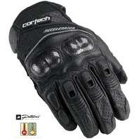 Cortech Accelerator 3 Black Leather Gloves - Mens XS-3XL