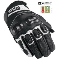 Cortech Accelerator 3 Armored Leather Gloves - Black/White - Mens XS-3XL