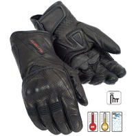 Tourmaster Dri Perf Gel Leather Gloves- Breathable Waterproof - Mens XS-3XL
