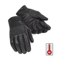 Tourmaster Summer Elite 3 Black Leather Motorcycle Gloves - Men's XS-3XL