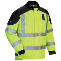 Tourmaster Sentinel-LE Waterproof Jacket - Black/Hi Viz - Men's Sizes XS-4XL