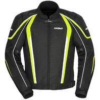Cortech GX-SPORT 4.0 Vented Jacket - BLACK/HI-VIZ - Men's Sizes XS-3XL