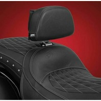 Indian 2014-2019 Black Vinyl Detachable Smart Mount Backrest w/ Pouch