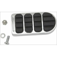 Kuryakyn 8044 Chrome Longhorn Brake Pedal Pad for Harley Softail & Dyna
