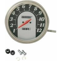 Drag Specialties DS-243883 5in. Dash Mount 1:1 Speedometer - 62-67 Face
