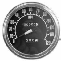Harley Davidson Panhead Shovelhead Black Speedometer Speedo FL FX 47-84