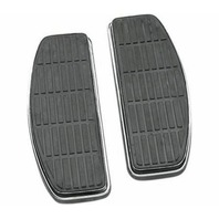 Harley Touring 91-05 Driver Floorboard Foot Board Black Rubber Inserts 50614-91