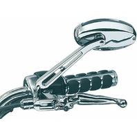 Kuryakyn 1437 Chrome Oval Ellipse Swivel Mirrors Set Pair Flat Glass Harley Indi