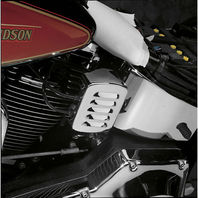 Chrome Louvered Coil Cover for 1984-99 Harley Softails FXST FLST