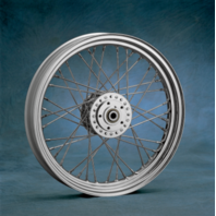 "Harley Davidson  Sportster 19""CHROME Wheel DUAL DISC  19""x 2.5"" - Drag Specialti"