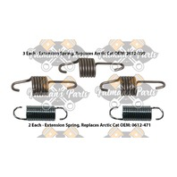 Snowmobile Exhaust Spring Kit for 1999-2000 Arctic Cat ZL500 ZL600 ZR500 ZR600